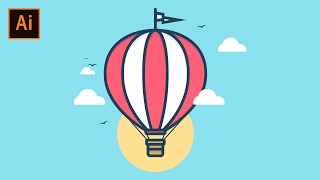 Adobe Illustrator Tutorial — How to Create a Hot Air Balloon Illustration