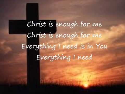 Christ Is Enough - Hillsong (Lyrics Video)