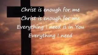 Christ Is Enough - Hillsong (Lyrics Video)