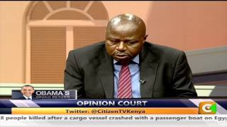 Opinion Court discussion on  Obama's  visit