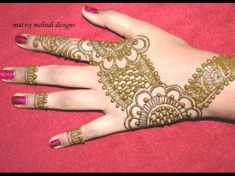 Simple Easy Henna Mehndi Design For Hands Step By Step Easy Mehndi