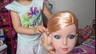 Dream Dazzler babie doll make up and hair styling with color changing lips!