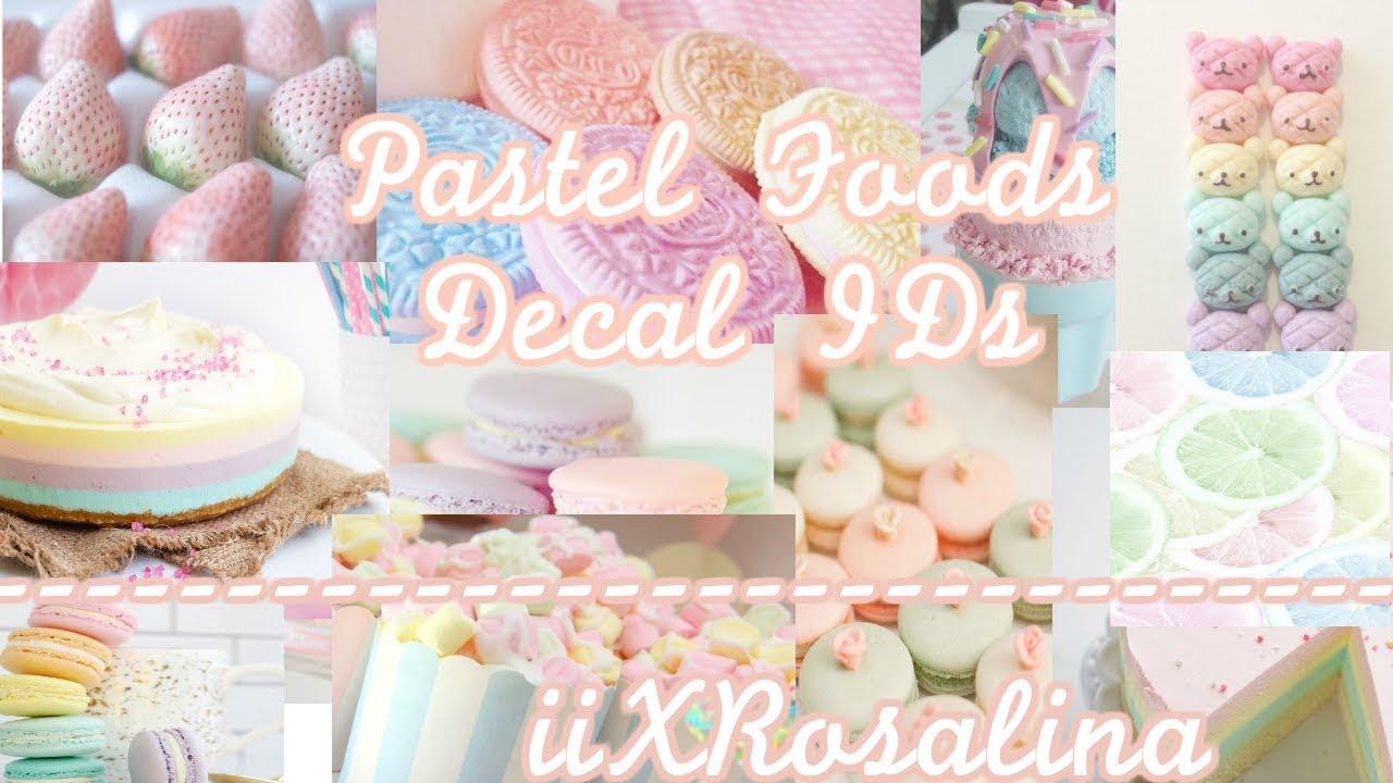 20 Pastel Foods Decal Codes