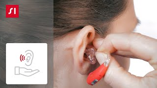 How to remove a Signia BTE(behind-the-ear) hearing aid