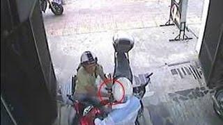 camera quay cảnh trộm xe máy -camera filming motorcycle theft
