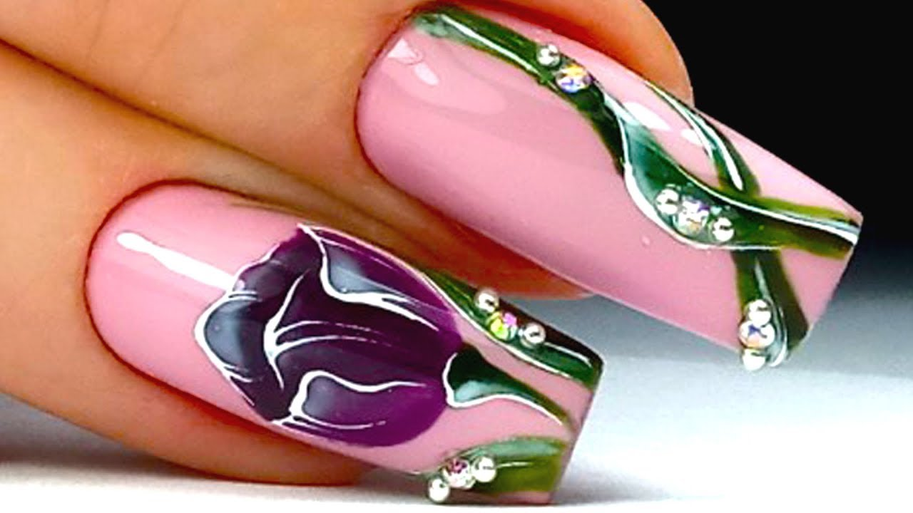 THE BIGGEST Spring NAIL DESIGN Flowers | Fashion Manicure 24