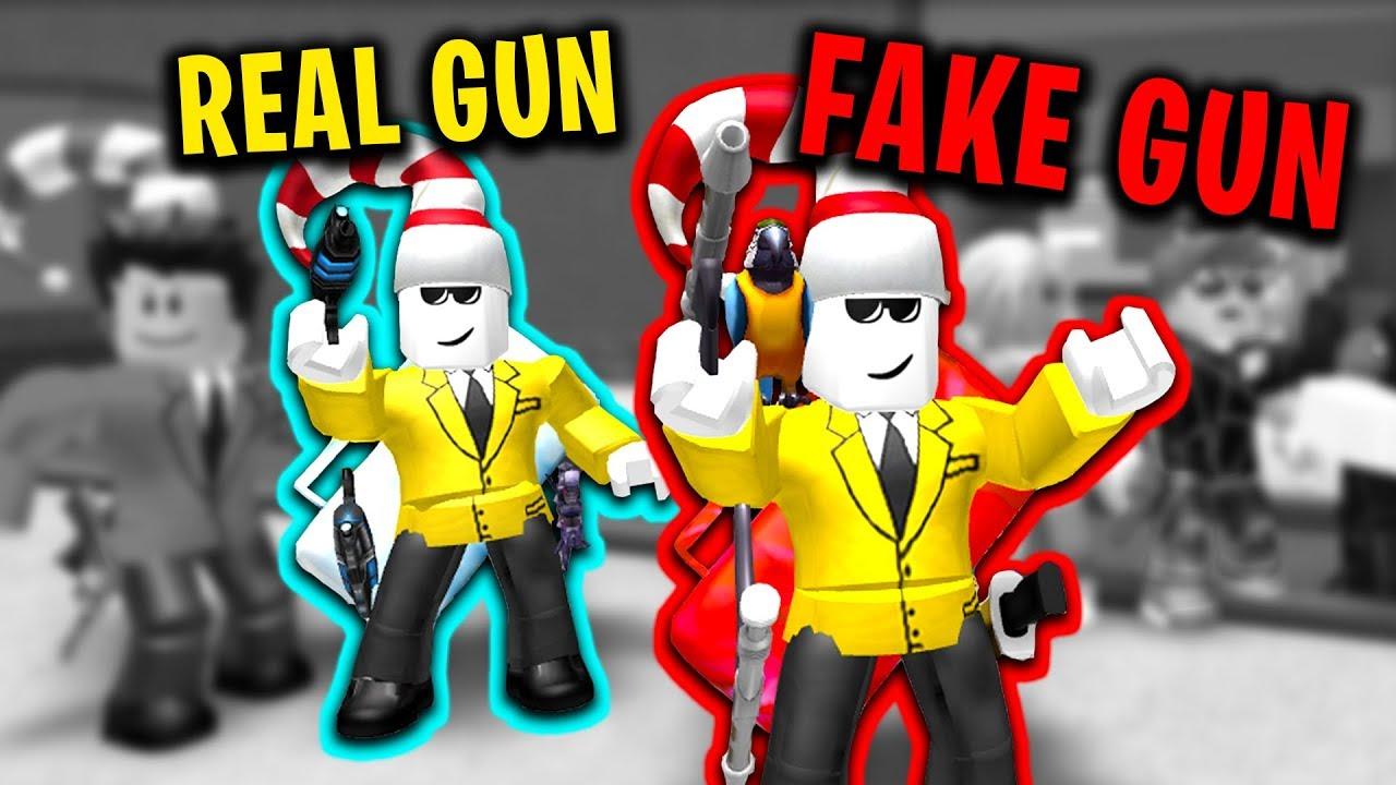 Fake Gun Trolling Roblox Murder Mystery 2 - best fake gun troll roblox murder mystery 2