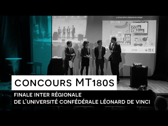 Concours Ma thèse en 180 secondes - Finale de l'Université Confédérale Léonard de Vinci