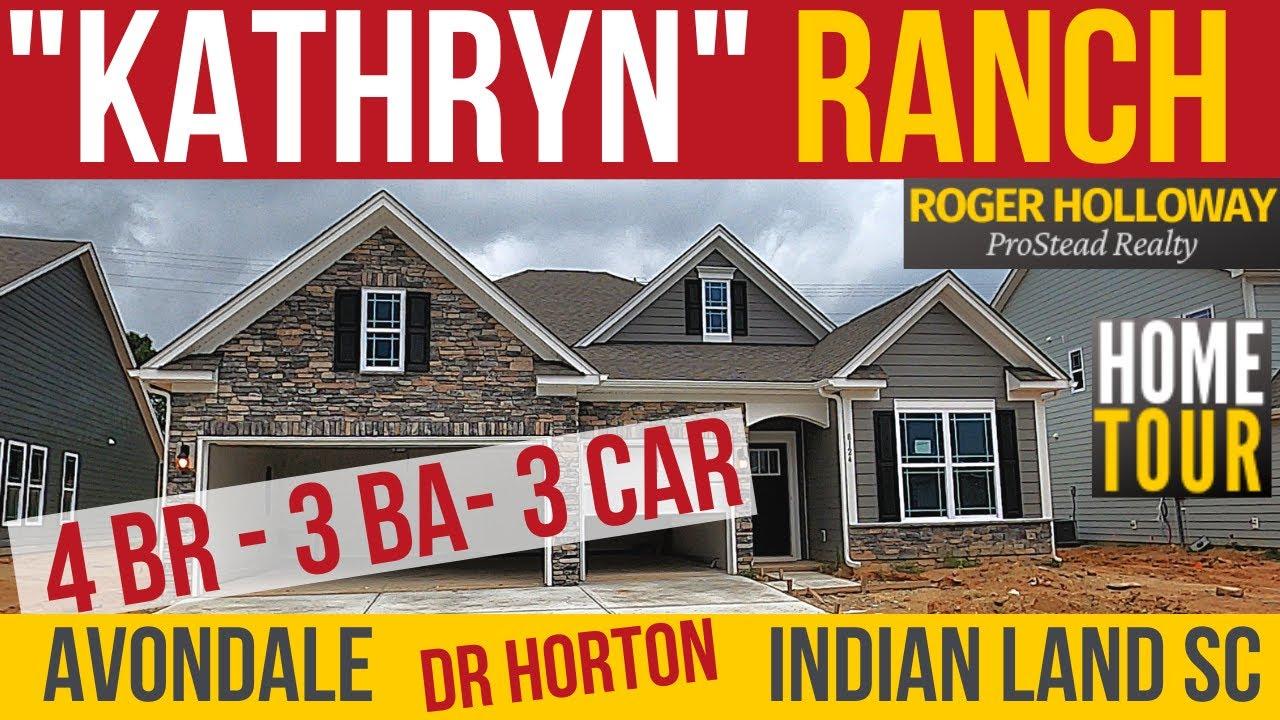 Kathryn 4 Bedroom Ranch Dr Horton S Avondale In Indian Land Sc Youtube