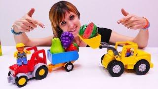 Веселая Школа с Машей Капуки Кануки - Видео для детей - Продаём фрукты