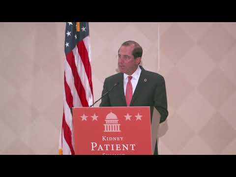 HHS Secretary Alex Azar Speaks at the NKF Kidney Patient Summit
