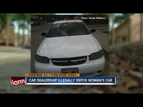 Car dealership illegally repos woman's car