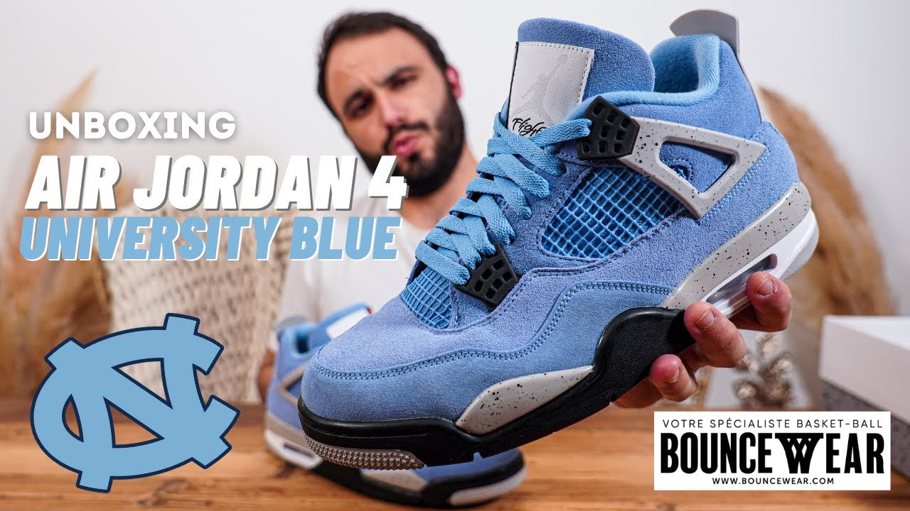 UNBOXING AIR JORDAN 4 UNIVERSITY BLUE - Du bleu, toujours du bleu ????