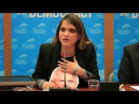 Antonietta Ledezma at UN for 2016 Geneva Summit - Daughter of Jailed Caracas Mayor Antonio Ledezma