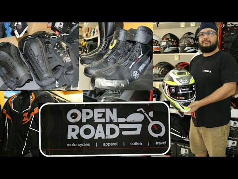 Open road motorcycle gear