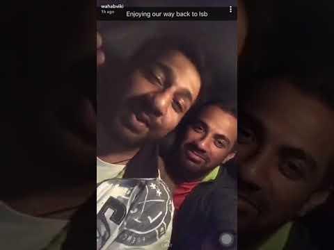 Pakistan Captain Sarfaraz Ahmed enjoying in car with Wahab Riaz and Babar Azam thumbnail