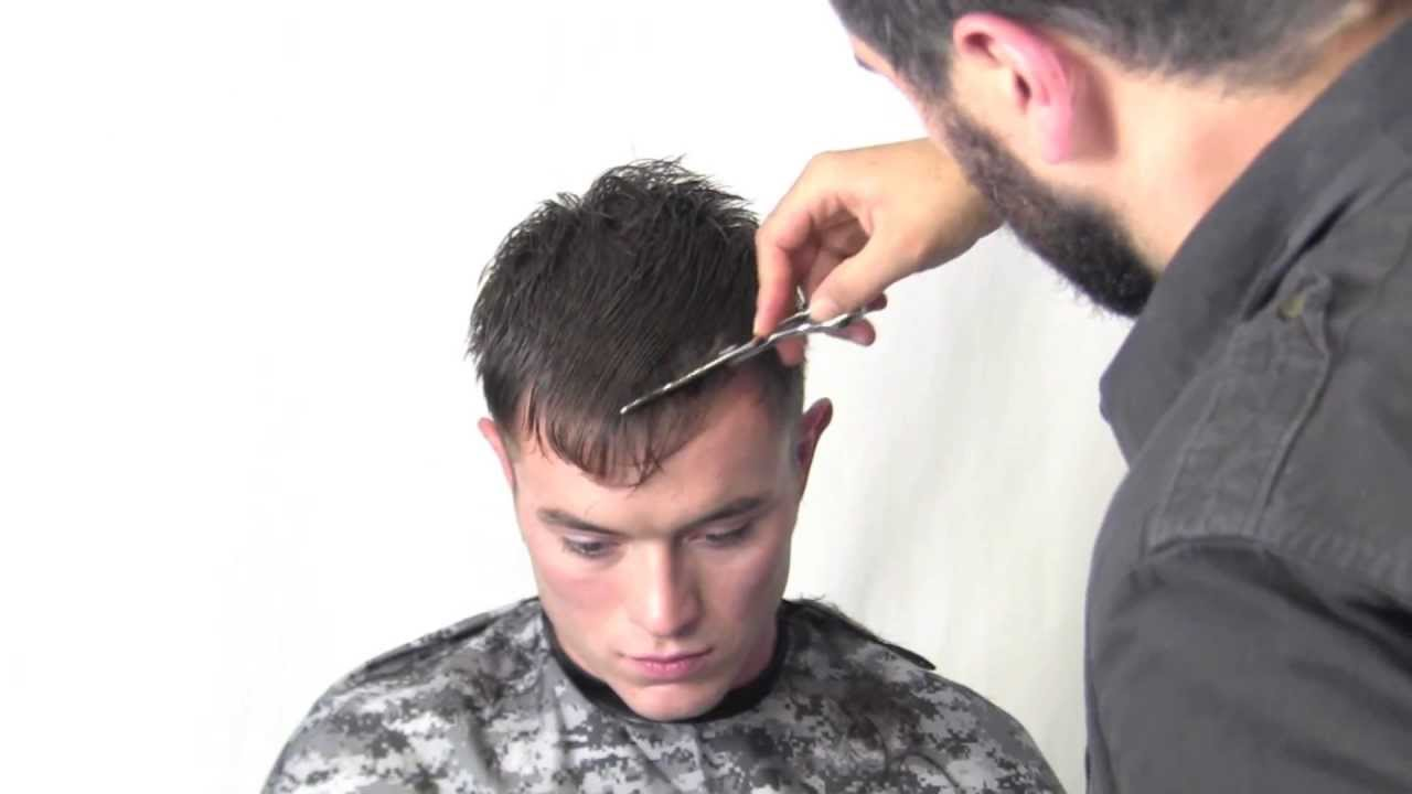 Men S Military Haircut Technique Youtube