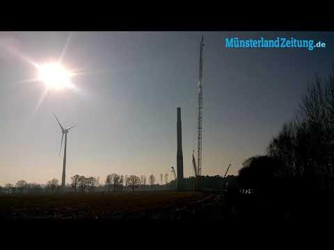 Sprengung an der Windkraftanlage in Quantwick.