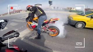 honda 1000rr lastik yakma 1000rr burn out motosiklet lastik yakmak