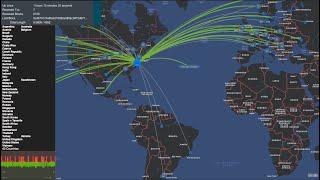 Map of Cardano Testnet Live Stream - in 1080p
