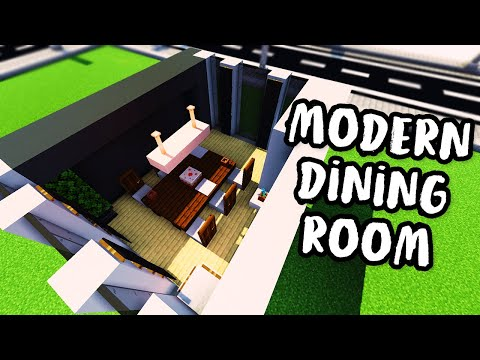 ✔ How to Build a Modern Dining Room  - Modern House Tutorial #3