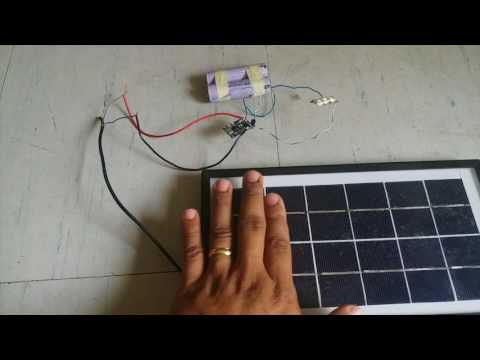 DIY Solar Night Lamp / Mini Solar Street Light using TP4056 board