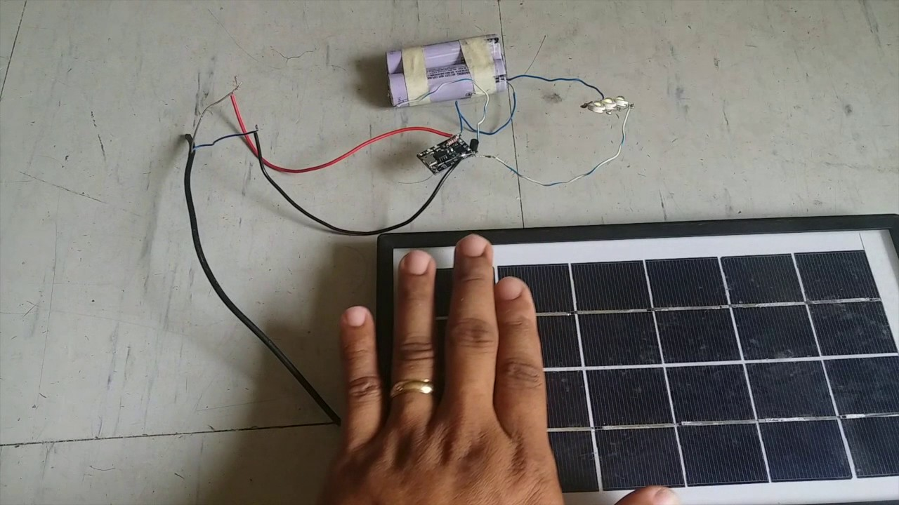 diy solar night lamp mini solar street light using tp4056 board [ 1280 x 720 Pixel ]