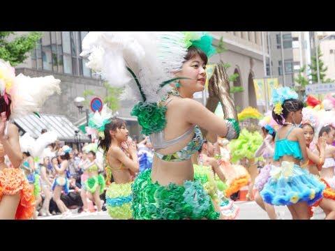 可愛いサンバガールが舞い踊る【神戸サンバチーム】神戸まつり2019☆サンバストリート 望遠バージョン!