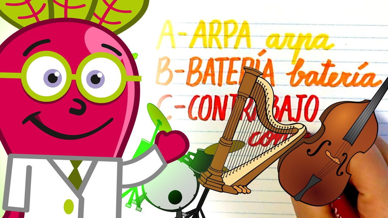 ALFABETO DE INSTRUMENTOS MUSICALES AG Abecedario ABC Niños - YouTube