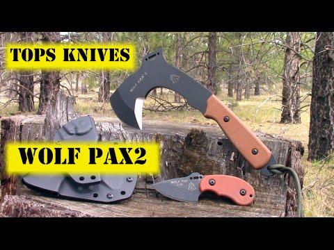 TOPS Knives Wolf pAX2 Bushcraft Combo