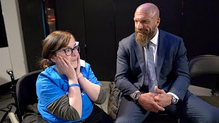 Triple H 39 s adorable meeting with Faith from Make A Wish Triple H 39 s Road to WrestleMania