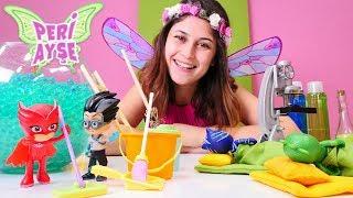 Peri Ayşe Baykuş kıza yardım ediyor! PJ Masks oyunları