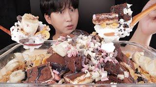 SUB)티라미수 브라우니 초코과자빙수 먹방!!! Ice…