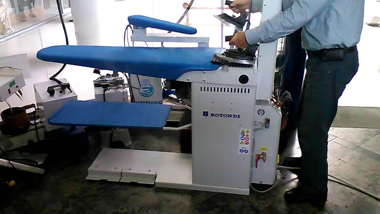 Mesa industrial de planchado con caldera autom tica 2 - Planchadora de camisas ...