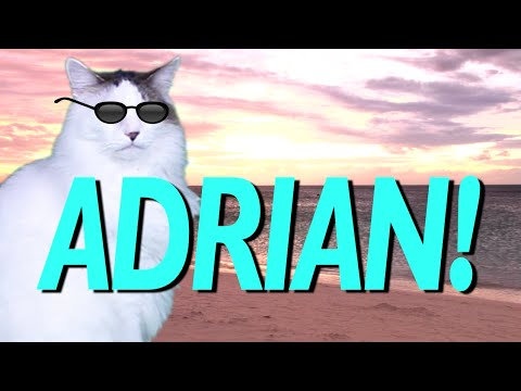 HAPPY BIRTHDAY ADRIAN! - EPIC CAT Happy Birthday Song