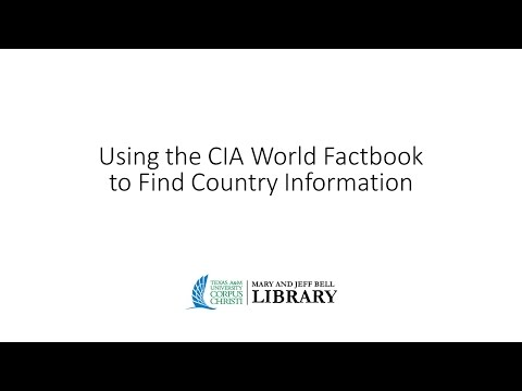 Using the CIA World Factbook to Find Country Information