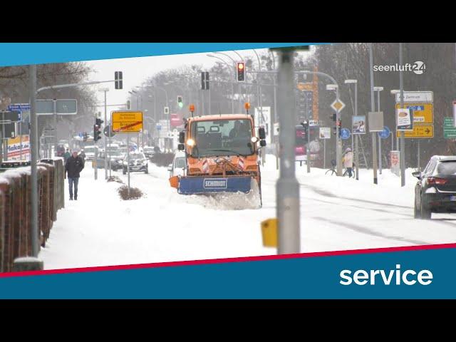 Wintereinbruch: Wer schafft jetzt den Schnee weg?