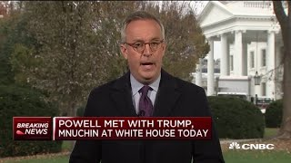Fed Chair Powell meets with Trump, Mnuchin at White House