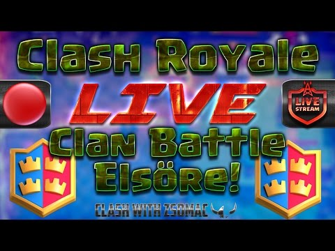 Clan Battle Elsőre! With/ Chres | Clash Royale Magyarul
