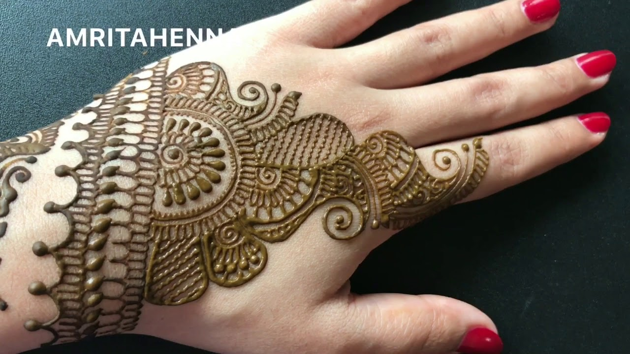 Karvachauth Special New Easy Henna Mehndi Design Traditional