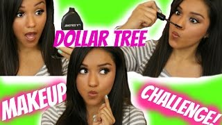 Dollar Tree Makeup Challenge | TAG