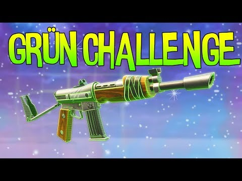 NUR GRÜN CHALLENGE | Fortnite Battle Royale