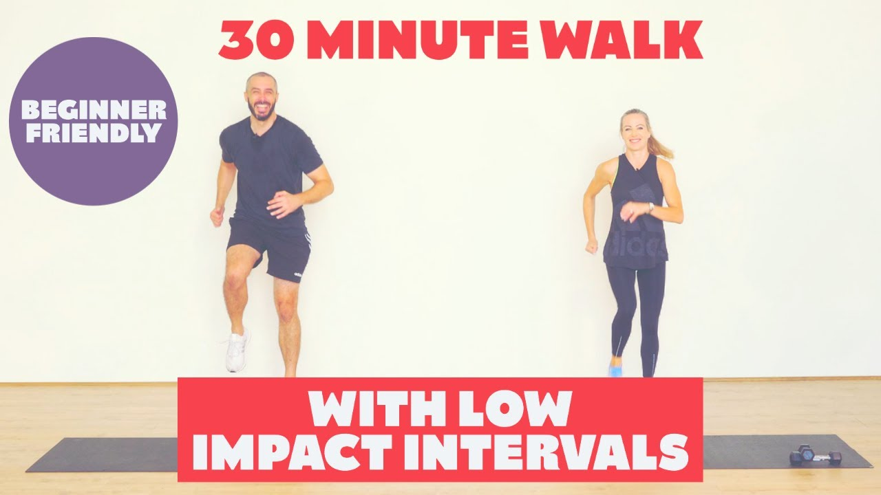 30 Minute Walk at home | With low impact cardio intervals