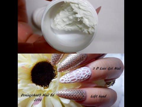 GUM GEL ---USE CORNSTARCH  to make---GUM GEL--3 D Art Gel ---------( For nails )