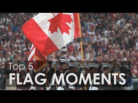 Top 5 Canadian Flag Moments in Sport