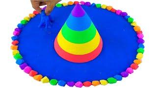 키네틱샌드로 오두막과 수영장을 만들다 만들기 만들기 -…