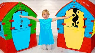 Margo play with funny Playhouses toys  compilation from Merry Margo