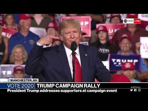 Pres. Trump New Hampshire Rally in Manchester | ABC News Live Coverage