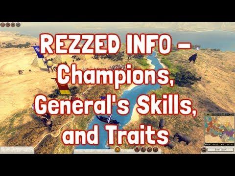 Total War Rome II - Rezzed 2013 - Champions, General's Skills and Traits