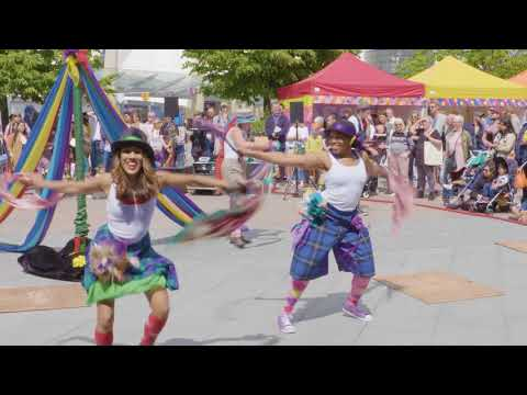 Folk Dance Remixed perform 'Step Hop House' at the Urban Village Fete 2017